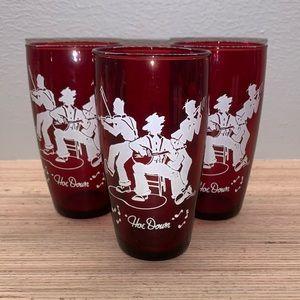 Vintage Square Dance Theme Glasses -4